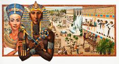 Akhenaton Pharaoh of Egypt (1375-1358 BC) ---Barbara Higgins Bond-Artist .....Akhenaton built the finest city in the desert where he lived with his wife, Queen Nefertiti. They changed Egyptian culture so radically that their impact was felt for centuries.