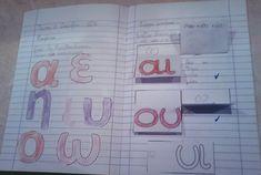 Greek Language, Interactive Notebooks, Grade 1, Grammar, Bullet Journal, Education, School, Winter Ideas, Vestidos