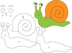 felt pattern snail Felt Animal Patterns, Felt Crafts Patterns, Stuffed Animal Patterns, Animal Templates, Applique Templates, Applique Patterns, Quiet Book Templates, Quiet Book Patterns, Fox Quilt