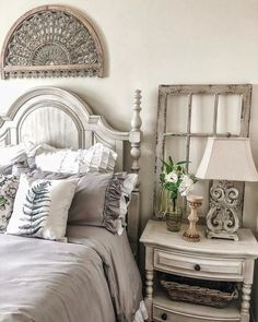 Reposted from - Happy March It's a gloomy day here in Southern California. We are expecting rain over the weekend. Farmhouse Bedroom Decor, Home Decor Bedroom, Cozy Bedroom, Bedroom Wall, Master Bedroom, Bedroom Ideas, French Country Bedrooms, Bedroom Styles, Beautiful Bedrooms