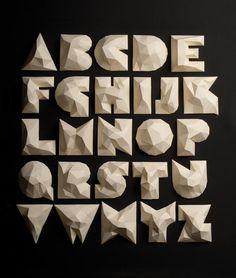 Alfabeto de papel by Agencia Lo Siento #typography