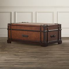 Found it at Wayfair - Delavan Steamer Coffee Table Trunk with Lift Top