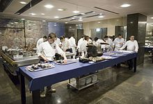 The kitchen of elBulli where Katrina worked after studying at Le Cordon Bleu