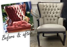19th c english wing chair see more i absolutely love the look of furniture i love using burlap little exposed