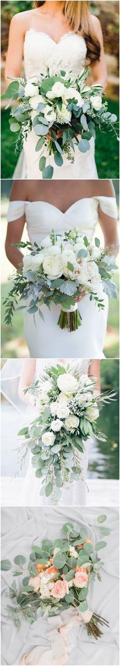 Greenery eucalyptus wedding bouquets / see more www. Wedding Reception Themes, Wedding Ceremony Flowers, Wedding Decorations, Romantic Wedding Colors, Floral Wedding, Eucalyptus Wedding, Sweetheart Wedding Dress, Bride Bouquets, Dream Wedding