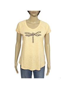 """Camiseta """"Libélula"""" Smartyfun #libelula #naranja #camiseta #t-shirt"""