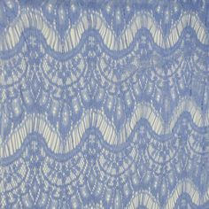 Blue Eyelash Cotton Blend Lace Fabric by the yard by LaceFabrics