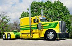 Yellow and. Green. Peterbilt  Custom. Diesel. Wagon