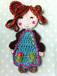 Sweet girl applique, free pattern from vendula Maderska , for my sweet girl xx