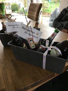 Kleiner biergarten m nnergeschenk basteln geschenke geschenke f r m nner und diy geschenke - Geldgeschenk biergarten ...