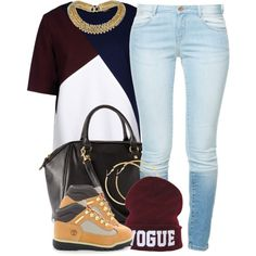 A fashion look from December 2013 featuring MSGM t-shirts, Zara jeans and Timberland shoes. Browse and shop related looks.