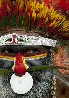 Papua New Guinea , Highlands, Mount Hagen festival singsing. © Eric Lafforgue