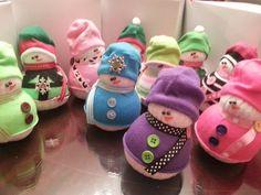 Muñecos calcetín por CreativeElementsArt en Etsy