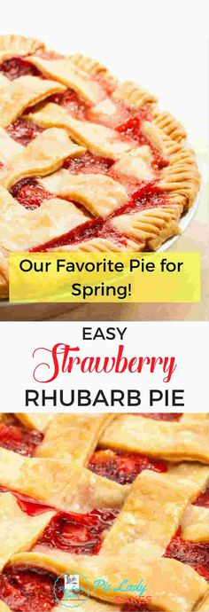 This Easy Strawberry Rhubarb Pie recipe means Spring will be here soon! The tangy combination of sweet strawberries and tart rhubarb is the best, and the delicious homemade filling tastes just like strawberry rhubarb jam, and all nestled in our perfect flaky pie crust!