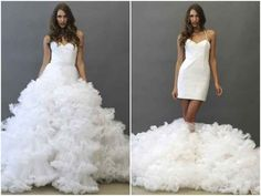 Be dance-floor-ready in seconds with a transformer wedding dress.