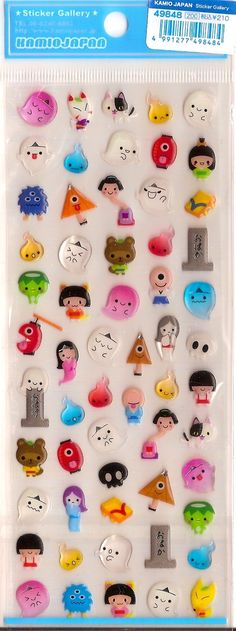 (D= I SO WANT THESE) Cute Kamio Japan Halloween Ghost Monster Stickers