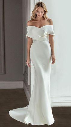 White Wedding Gowns, Elegant Wedding Dress, Best Wedding Dresses, Unique Dresses, Designer Wedding Dresses, Elegant Dresses, Bridal Dresses, Timeless Wedding Dresses, Satin Wedding Dresses