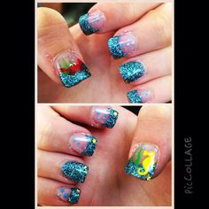 Under the sea nails,Blue Glittery Nails,Sweet 16