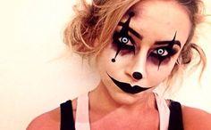 Creepy makeup idea.