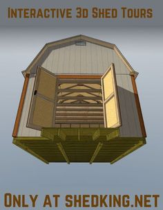One feature you may enjoy about my shed plans is that you can use my 3d interactive tours to take a look all around inside, go in the loft, walk outside and see how really easy it will be to accomplish your Diy shed building project. Shed House Plans, Lean To Shed Plans, Shed Building Plans, Diy Shed Plans, Backyard Storage Sheds, Backyard Sheds, Outdoor Sheds, Shed Storage, 3d Building Models