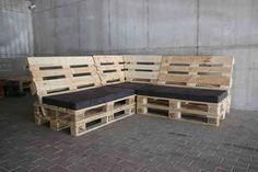 Crate and Pallet DIY Pallet furniture Diy Pallet Couch, Pallet Lounge, Pallet Patio Furniture, Diy Couch, Home Furniture, System Furniture, Crate Furniture, Furniture Plans, Pallet Bank