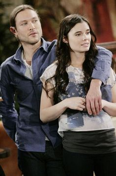 MICHAEL GRAZIADEI AS Daniel Romalotti, Jr. With JESSICA HEAP AS Eden Fisher on SONY®'s The Young And The Restless®