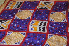 Vintage 1960's - Retro, Multi Colored, Fun, Geometric Scarf by TheMercerStreetHouse on Etsy