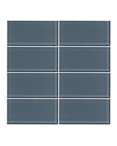 Steel Blue 3x6 Glass Subway Tile