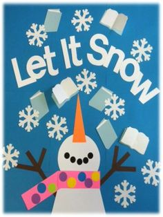 "We could do just the ""let it snow"" in white letters"