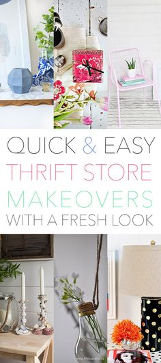 Quick and Easy Thrift Store Makeovers /// With a Fresh Look - The Cottage Market