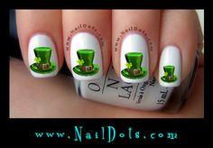 Leprechaun Top Hat Nail Decals