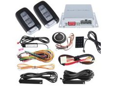 High security PKE car alarm kit remote engine start, auto central locking, push button start stop and Touch password entry