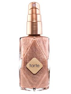 Tarte Celebutante Dry Oil Shimmer Spray  Pasty legs do not a party girl make. Skip harmful UV rays and streaky self-tanners by misting your gams with this coconut-scented, champagne-sheen spray that washes off in the shower.    $34; sephora.com