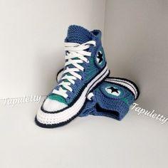 cd0334e08e4c Knitted converse boots 39 Women socks slippers Crochet converse boots  Knitted converse sneakers Knit