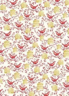 Bird & Cage Wrap (H8) , Cards and Gift Wrap - Cavallini & Co., Vintage Market And Design