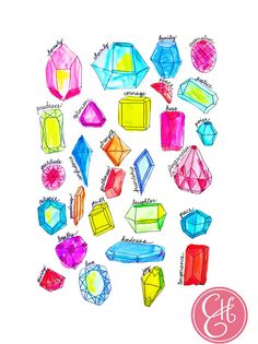 The Gems of Life Print by Evelyn Henson -$25