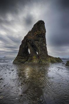 "The ""Bandersnatch"" off the coastline in - Washington, USA."