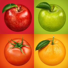 Fruits by Kadasarva, via Behance