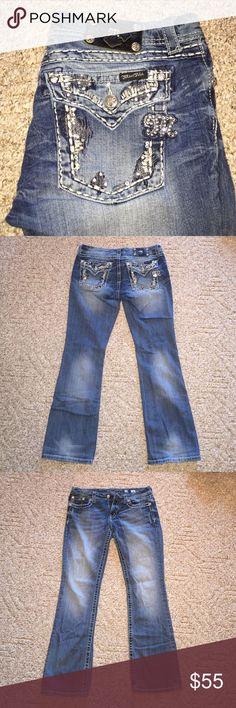 CUUTE Miss Me Buckle jeans! No damage or stains! Perf condition. Such cute jeans with a perfect wash and adorable bling on the bum! Goes with any casual or dressy top! LOVE these so much. (No trades) Miss Me Jeans Boot Cut