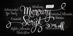One of my favorite fonts EVER - Mercury Script - Webfont & Desktop font « MyFonts Typography Love, Typography Letters, Typography Served, Font Alphabet, Creative Typography, Lettering Design, Hand Lettering, Lettering Styles, Lettering Tutorial