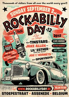 KUSTOM GRAPHIC DESIGN: ROCKABILLY DAY 2012