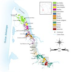 Wine-growing areas on the left bank of Bordeaux http://en.wikipedia.org/wiki/Bordeaux_wine