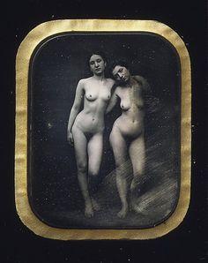 Félix-Jacques-Antoine Moulin,  Dúas mulleres espidas (cara a 1850)
