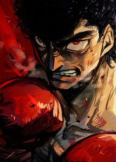 Otaku Anime, Manga Anime, Anime Demon, Cartoon Fan, Cartoon Drawings, Hajime No Ippo Wallpaper, Martial Arts Manga, Boxing Posters, Old School Cartoons