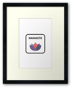 #yogaposters NAMASTE • Also buy this artwork on wall prints, apparel, stickers, and more. Wall Prints, Framed Art Prints, Quote Posters, Yoga Posters, Peace Poster, Yoga Art, Yoga Quotes, Custom Boxes, Box Frames