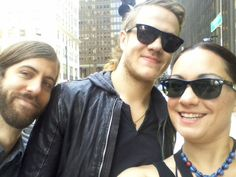 Imagine Dragons on the streets of Chicago.  Lollapolooza 2013, Hard Rock Hotel
