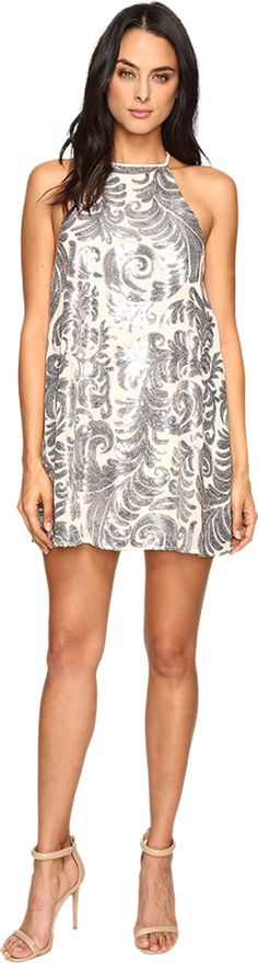 Show Me Your Mumu Women's Gomez Mini Dress Crystal Crown Blush Dress. Take your time and have a much-needed night out in the Show Me Your Mumu® Gomez Mini Dress. Shift silhouette. Halter neckline. Back keyhole cutout with button-loop closure. Fully lined. Straight hemline falls at a flirty length. 100% polyester. Hand wash cold, hang dry. Imported. Measurements: Length: 32 in Product measurements were taken using size SM. Please note that measurements may vary by size.