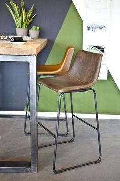 By-Boo Barkruk Logan Laag Cognac - Design meubelen & verlichting | Altijd SALE | Korting | Zuiver, Dyyk