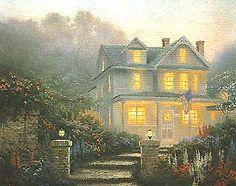 """Victorian Evening"" by Thomas Kinkade (1991)."