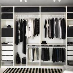Trendy Open Closet Storage Ideas Walk In Walk In Closet Design, Bedroom Closet Design, Master Bedroom Closet, Bedroom Wardrobe, Wardrobe Closet, Closet Designs, Bedroom Storage, Closet Doors, Diy Bedroom